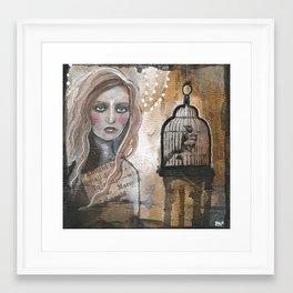 Caged Bird Framed Art Print