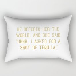 Shot of Tequila Rectangular Pillow