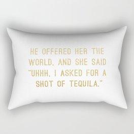 Shot of Tequila Rectangular Pillow