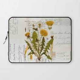 Vintage Dandelion on Antique Postcards Laptop Sleeve