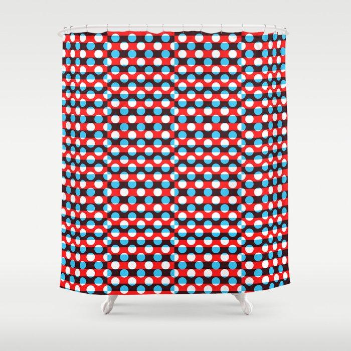 Geometric Overlap Shower Curtain