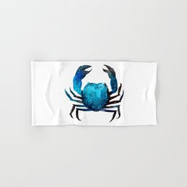Cerulean blue Crustacean Hand & Bath Towel