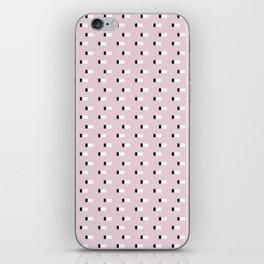 Minimal Squares - Dusty Rose iPhone Skin
