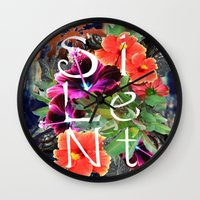 silent Wall Clocks featuring Silent by tomthebigbear