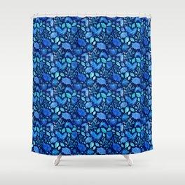 Pretty Australian Native Floral Print - Lovely Blue Shower Curtain
