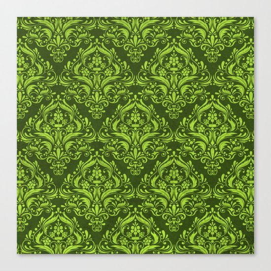 Halloween damask colors #3 Canvas Print