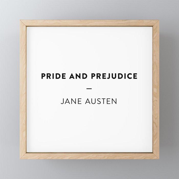 Pride and Prejudice  —  Jane Austen Framed Mini Art Print