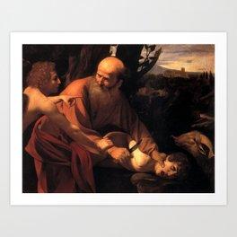 Sacrifice of Isaac by Caravaggio Art Print
