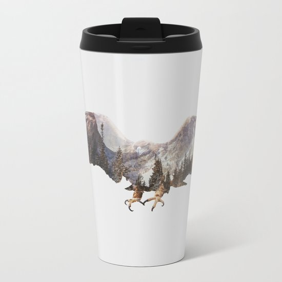 Arctic Eagle Metal Travel Mug