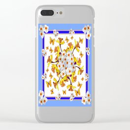 """Joy Of Spring"" Daffodils in Blue Shades Clear iPhone Case"