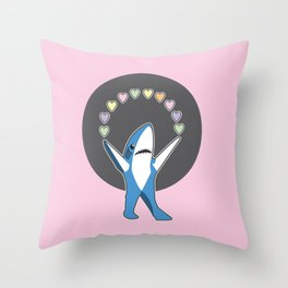 Left Shark hearts you Throw Pillow