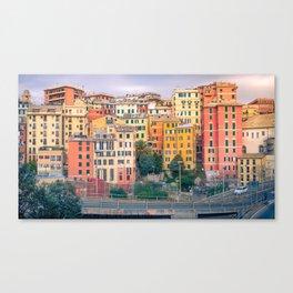 Genoa colorful view Canvas Print