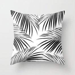 Black Palm Leaves Dream #2 #tropical #decor #art #society6 Throw Pillow