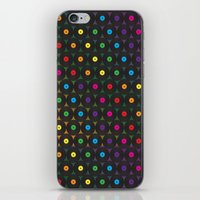 records iPhone & iPod Skins featuring disco records by kociara