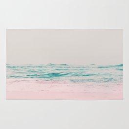 Vintage Pastel Ocean Waves Rug