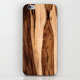 Sheesham Wood Grain Texture, Close Up iPhone Skin