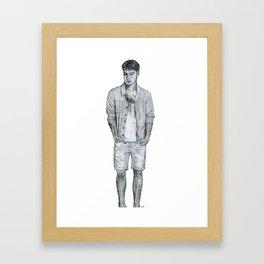 Contemplative Gentleman Framed Art Print