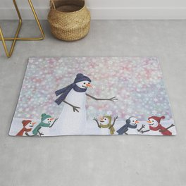 Mrs. Snowman and the kiddos Rug
