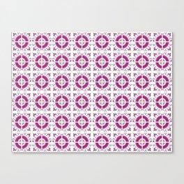 Flamingo Talavera Tiles Canvas Print