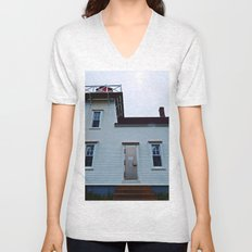 Lighthouse in North-Rustico Unisex V-Neck