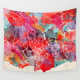 Ponce map Puerto Rico painting 2 Wall Tapestry