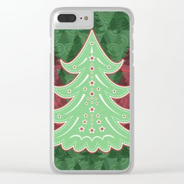 Xmastrees_05b Clear iPhone Case