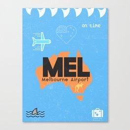 MEL Melbourne airport code Canvas Print