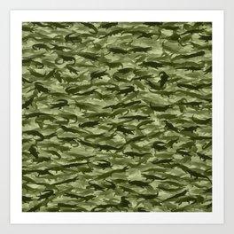 Crocodile camouflage Art Print