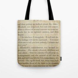 Pride and Prejudice  Vintage Mr. Darcy Proposal by Jane Austen   Tote Bag
