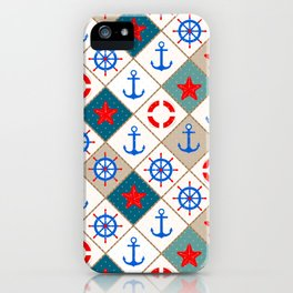 Nautical pattern . 1 iPhone Case
