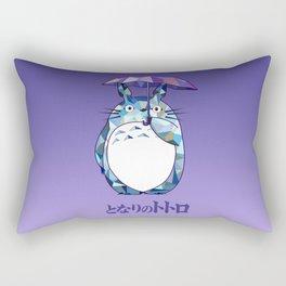 Kawaii Purple Ghibli Rectangular Pillow