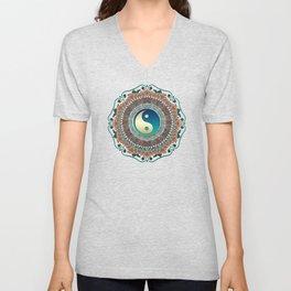 Bohemian Batik Yin Yang Unisex V-Neck