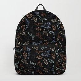 Dinosaurs - Color on Black Backpack