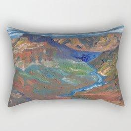 Grand Canyon Oil Painting Rectangular Pillow
