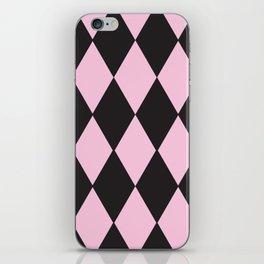 Harlequin pink & black iPhone Skin