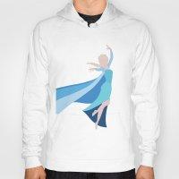 frozen elsa Hoodies featuring Frozen - Elsa by TracingHorses