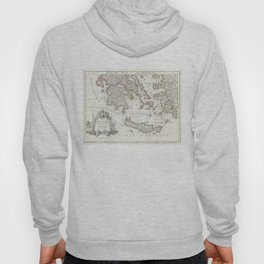 Vintage Map of Southern Greece (1794) Hoody
