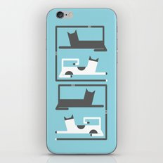 CATS IN LOVE BLUE (abstract animals) iPhone & iPod Skin