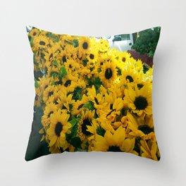 Farmer's Market Flowers Throw Pillow
