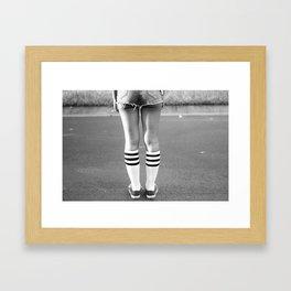 Shorts & Chucks Framed Art Print