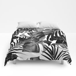 Tropical Jungle Leaves Pattern #10 #tropical #decor #art #society6 Comforters