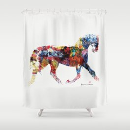 Horse (Freedom of skin) Shower Curtain