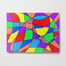 Colourful Squares Metal Print
