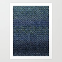 knit Art Prints featuring Knit  by SazzyDoodles