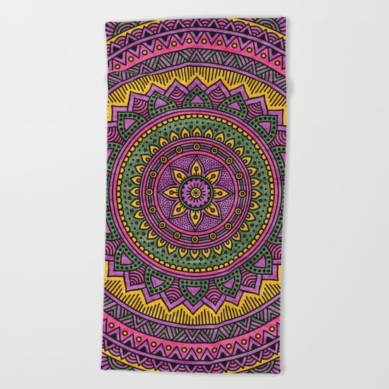 Hippie mandala 45 Beach Towel