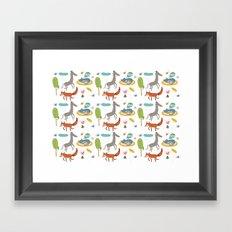 Happy animals Framed Art Print