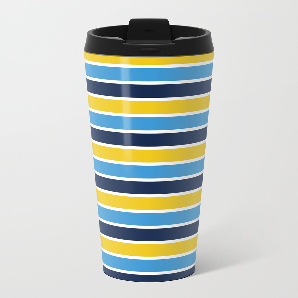 Blue & Yellow: Stripes Travel Cup TRM8952166