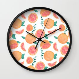 Grapefruit Wall Clock