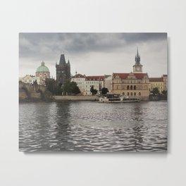 The Charles Bridge, Prague Metal Print