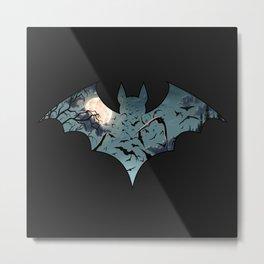 Batty Cutout Metal Print